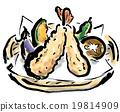 天妇罗 油炸食品 油炸的 19814909