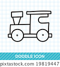 toy train doodle 19819447