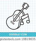 guitar doodle 19819635
