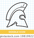 Knight hat doodle 19819922