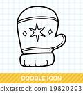 winter gloves doodle 19820293