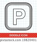 Parking lot doodle 19820401