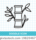 Chinese New Year decorative bamboo doodle 19820467