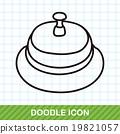 hotel bell doodle 19821057