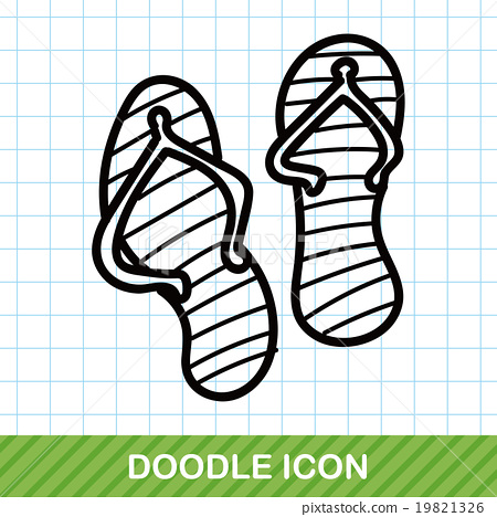 flip flop color doodle 19821326