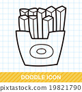 french fries doodle 19821790