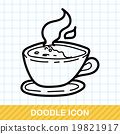 hot coffee color doodle 19821917