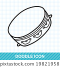 musical instrument Tambourine doodle 19821958