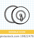 musical instrument Cymbals doodle 19822476