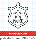 police badge doodle 19822527