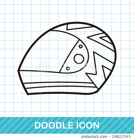 helmet doodle 19822543