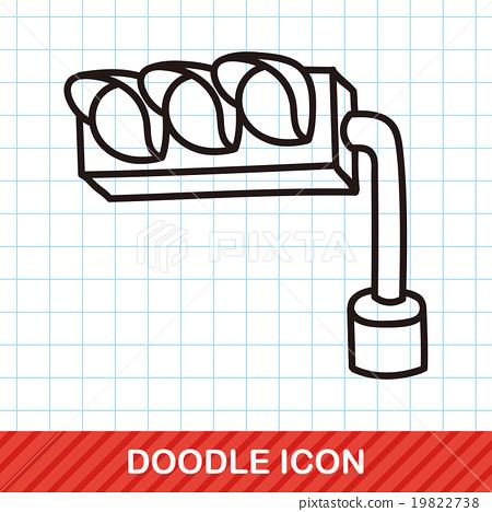 traffic light doodle 19822738