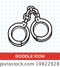Handcuffs doodle 19822928