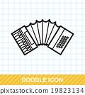 musical instrument Accordion doodle 19823134