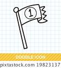 race flag doodle 19823137