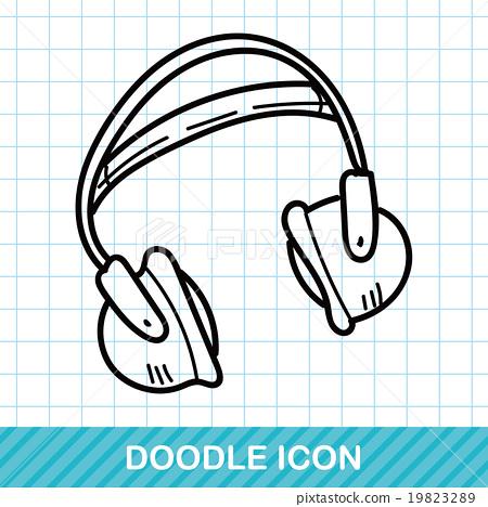 headphone doodle 19823289