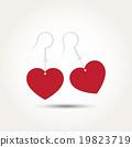 Vector Love Heart Couple Earring 19823719