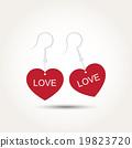 Vector Love Heart Couple Earring 19823720