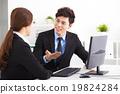 Business people Having Meeting in office 19824284