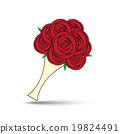Vector Love Rose Bouquet Illustration 19824491