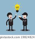 Businessman get idea 19824824