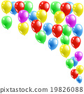 colorful balloons with happy 19826088