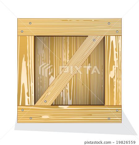 Wooden box icon 19826559