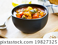 Vegetables soup with chickpea 19827325