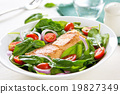 Samon with Spinach salad 19827349
