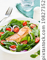Salmon with Spinach salad 19827352