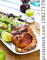 Grilled chicken with salad 19827379