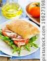 Prosciutto on Olive Ciabatta sandwich 19827398