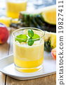 Pineapple with Peach smoothie 19827411