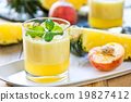 Pineapple with Peach smoothie 19827412