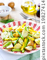 Potato with Herb and Asparagus salad 19827414
