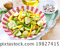 Potato with Herb and Asparagus salad 19827415