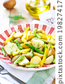 Potato with Herb and Asparagus salad 19827417