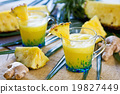 Pineapple with ginger juice 19827449