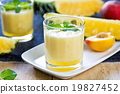 Pineapple with Peach smoothie 19827452