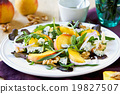 Peach with Blue cheese and Rocket salad 19827507
