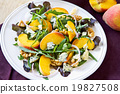Peach with Blue cheese and Rocket salad 19827508