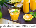 Pineapple with Orange and Mango smoothie 19827549