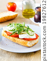 Mozzarella with rocket sandwich 19827612