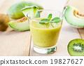Melon with Kiwi smoothie 19827627