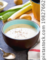 Leek and Potatoes soup 19827662