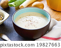 Leek and Potatoes soup 19827663