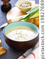Leek and Potatoes soup 19827689