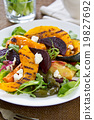 Grilled vegetables with feta cheese salad 19827692