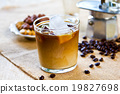 Ice coffee with milk 19827698