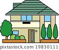 矢量 獨立式住宅 家 19830111